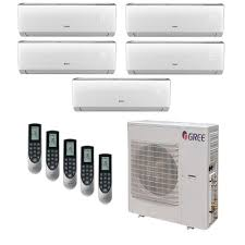 ductless mini split gree multi 21 zone 42 000 btu 3 5 ton ductless mini split air