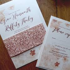 vintage flower wedding invitation and rsvp by pink polar