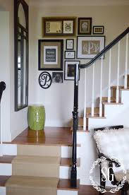 top of stairs wall decor inspiration interior home design ideas