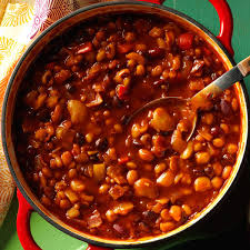 Main Dishes For Christmas - tangy baked seven beans recipe taste of home