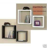 Wooden Bedside Bookcase Shelving Display Solid Wood Wall Cube Square Shelf Display Floating Storage Bedside