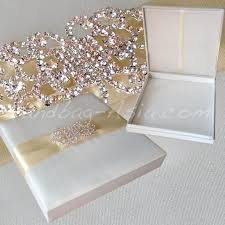 wedding invitations in a box luxury ivory silk wedding box with large brooch handbag