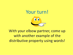 distributive property examples with words