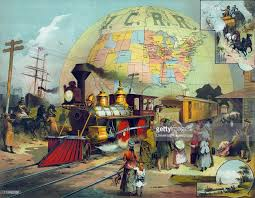 Train Map Of America by Train In Station On Illinois Central Railroad Background A Map
