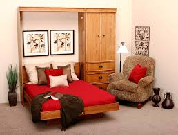 Single Sofa Bed Wooden Bedroom Hideaway Bed In A Cabinet Be Equipped With White Wooden