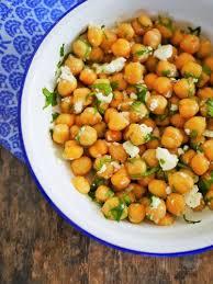 cuisine coriandre salade de pois chiche féta et coriandre recettes de cuisine