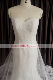 mermaid sweetheart wedding dress with a tulle lace detachable skirt