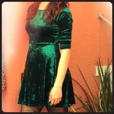 48 off forever 21 dresses u0026 skirts green velvet skater dress