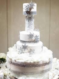 Winter Decorations For Wedding - cakes u0026 desserts photos winter themed cake inside weddings