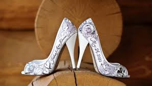 wedding shoes ottawa stunning painted bridal shoes the wedding planners