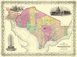 Washington New York Map by Old City Map Georgetown Washington Dc Colton 1856
