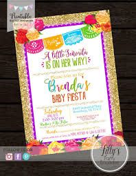 enchanting mexican themed baby shower invitations 99 for thank you