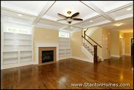 Craftsman Style Home Interiors by Craftsman New Homes Raleigh Coffered Ceiling Design Stanton