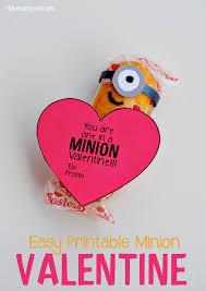 easy printable minion valentine myfavoritebloggers benson