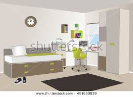 cute colorful childrens room interior design stock vector