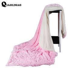 jeter un canapé velours vison chaud doux polaire couvertures couche épais