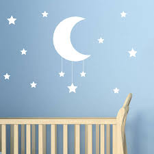 28 moon and stars wall stickers moon and stars kids wall moon and stars wall sticker by nutmeg notonthehighstreet com