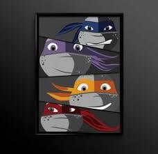 Minimalist Art Poster Teenage Mutant Ninja Turtles Ninja