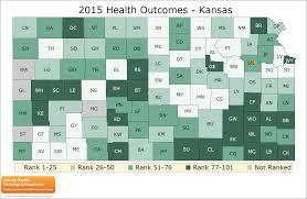 Map Of Counties In Kansas Kansas Rankings Data County Health Rankings U0026 Roadmaps