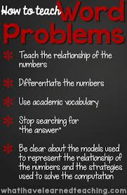 how to teach addition and subtraction word problems word