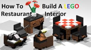 how to build a lego restaurant interior custom moc instructions