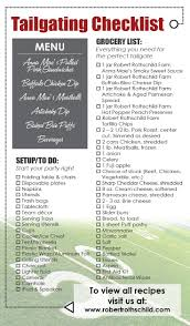 Household Essentials List Tailgate Party Checklist Must Have For Tailgate Planning This