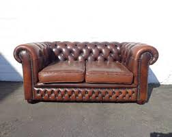 Vintage Chesterfield Leather Sofa Vintage Chesterfield Sofa Etsy