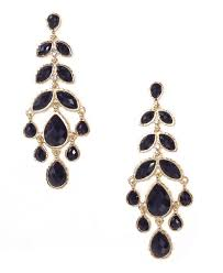black chandelier earrings amrita singh brenna chandelier earrings jet black