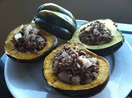 stuffed acorn squash with ground beef