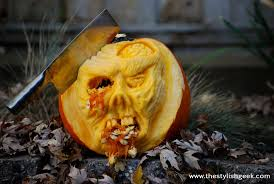 zombie pumpkin speed carving tutorial youtube