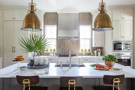 full height gray herringbone kitchen backsplash transitional