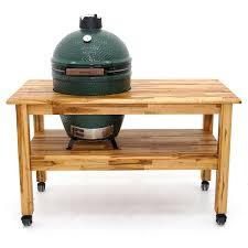 large green egg table hardwood teak big green egg table leisure depot