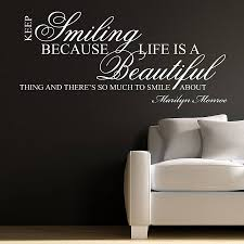 quote wall stickers uk keep smiling wall stickers