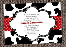 black white cow print baby shower invitation cow print baby shower