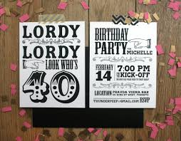 Printable Party Invitation Cards 40th Birthday Party Invitations Cloveranddot Com
