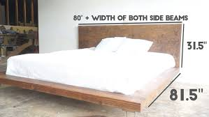 King Size Bed Frame Diy Diy Modern Platform Bed Modern Builds