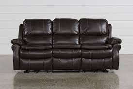 Leather Club Chairs For Sale Salinger Nutmeg Power Dual Reclining Sofa Living Spaces