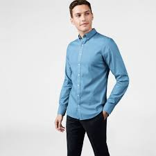 gant diamond g blue pinpoint oxford shirt men gant usa store