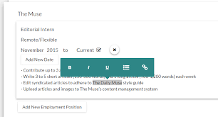 Resume Tool This Tool Makes Updating Your Resume Easier The Muse