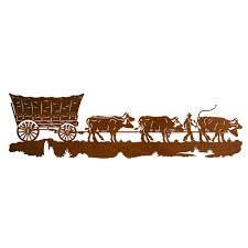 Western Wallpaper Border Conestoga Wagon Metal Wall Art