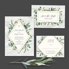 wedding invitations greenery marble wedding invitations greenery geometric diamond gold