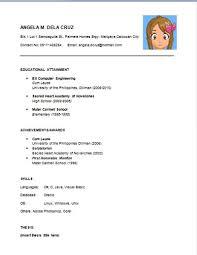 Sample Resumer by Sample Resume Fresh Graduate Nursing Student