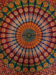 amazon com queen size indian tapestry bedding hippie mandala