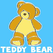 draw teddy bear easy step step drawing tutorial