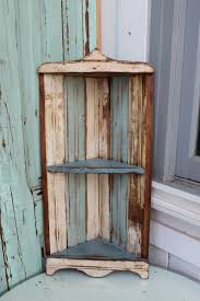 Wood Corner Bookcase Reclaimed Wood Corner Bookcase With Storage Shelves In White