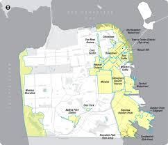 San Francisco Transportation Map by San Francisco General Plan Introduction