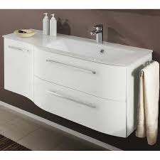 wall mounted sink cabinet 700mm modern white vanity unit curved bathroom furniture sink fresh