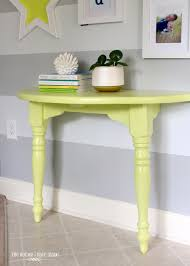 Yellow Console Table A Lemon Lime Console Table And Entryway Update The Homes I
