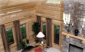 modular log homes from express modular