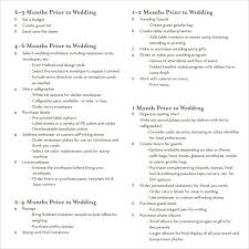 sample wedding planning checklist template blank wedding guest